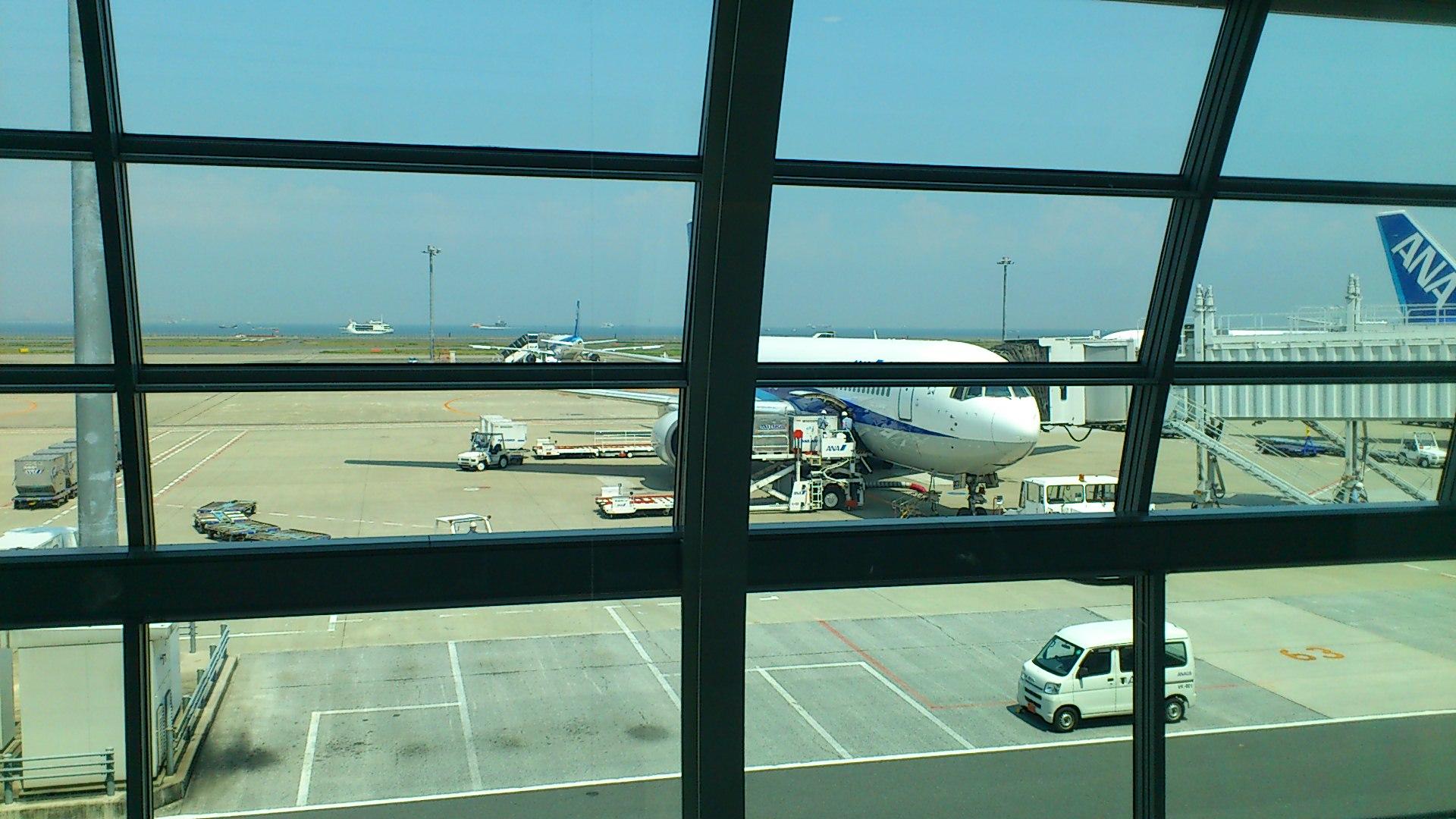 初めての飛行機☆